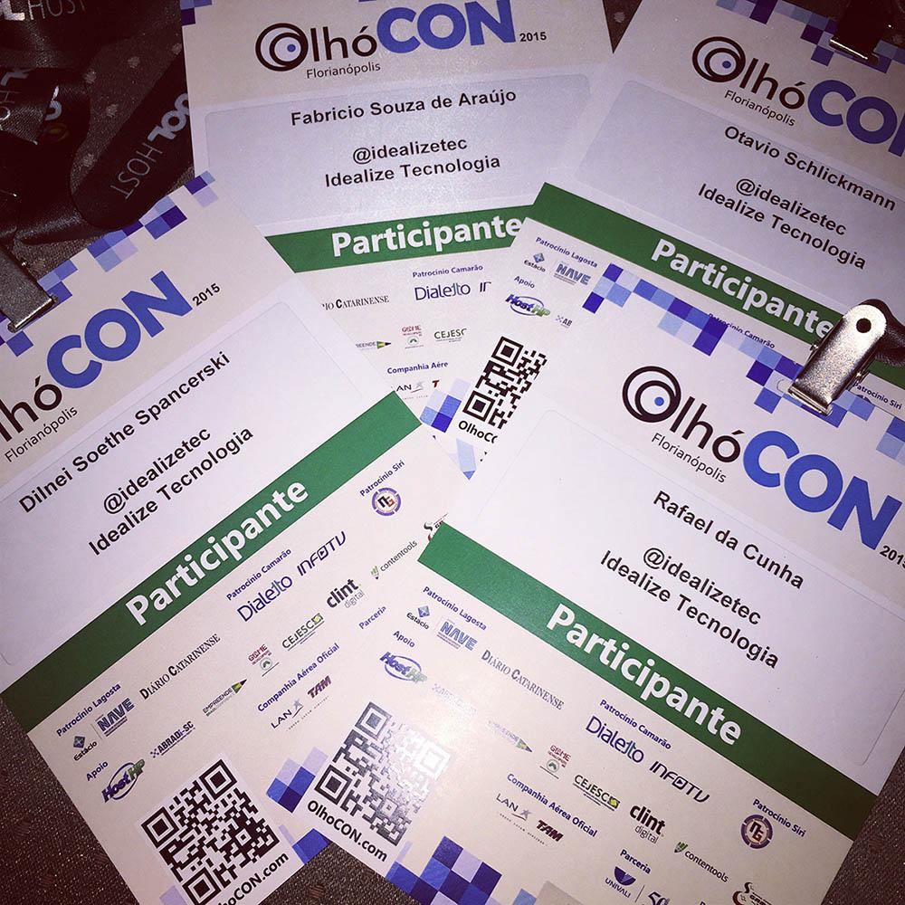 A Idealize Tecnologia esteve presente no OlhóCON 2015 – Evento de Inovação e Tecnologia voltado para o Marketing Digital e Empreendedorismo
