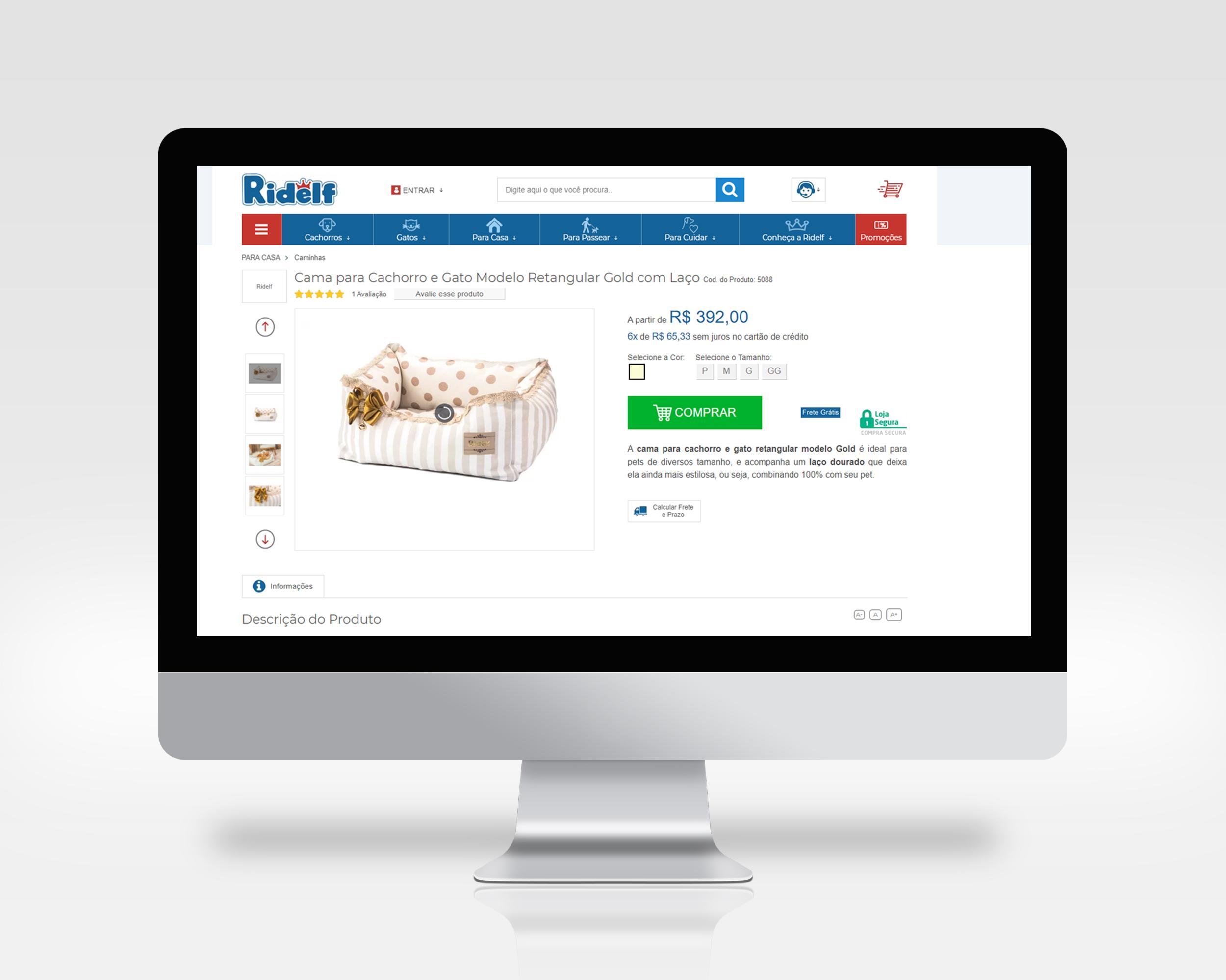 Cadastro de produto com informações adicionais